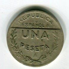 Monedas República: 1 PESETA CONSEJO DE SANTANDER PALENCIA Y BURGOS AÑO 1937. Lote 45875987