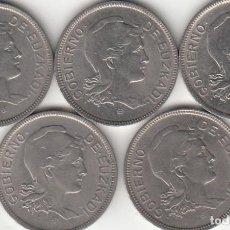 Monedas República: LOTE: 5 MONEDAS - 2 PESETAS 1937 GOBIERNO DE EUZKADI ( GUERRA CIVIL ). Lote 190241576
