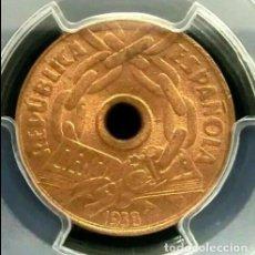 Monedas República: PCGS MS56RD ESPAÑA II REPÚBLICA 25 CÉNTIMOS 1938 . Lote 190738717