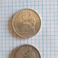 Monedas República: REPÚBLICA ESPAÑOLA UNA PESETA 1933 * 34 PLATA E.B.C Y M.B.C 1 PESETA. Lote 191052702