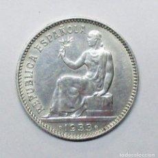 Monedas República: SEGUNDA REPUBLICA ESPAÑOLA 1 PESETA DE PLATA 1933 * 3 - 4. LOTE 2246. Lote 191198016