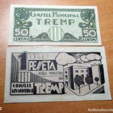 Monedas República: ANTIGUO PAPEL MONEDA CONSELL MUNICIPAL DE TREMP REP.ESPAÑOLA. Lote 191221111