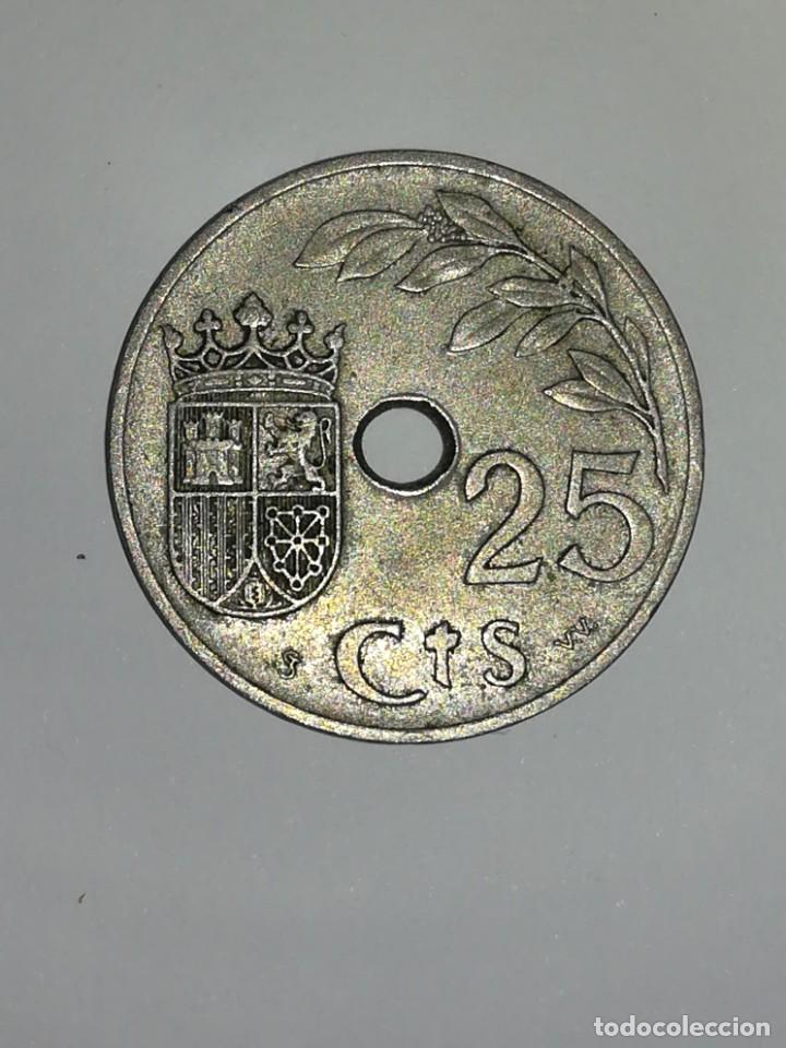 Monedas República: 25 CÉNTIMOS DE 1937 DE LA SEGUNDA REPÚBLICA - Foto 2 - 191375160