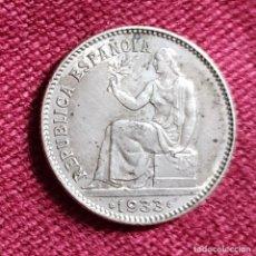 Monedas República: 1 PESETA 1933*3*4 (EBC). Lote 191963742