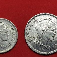 Monedas República: 1 PESETA Y 2 PESETAS GOBIERNO EUZKADI. Lote 192274438