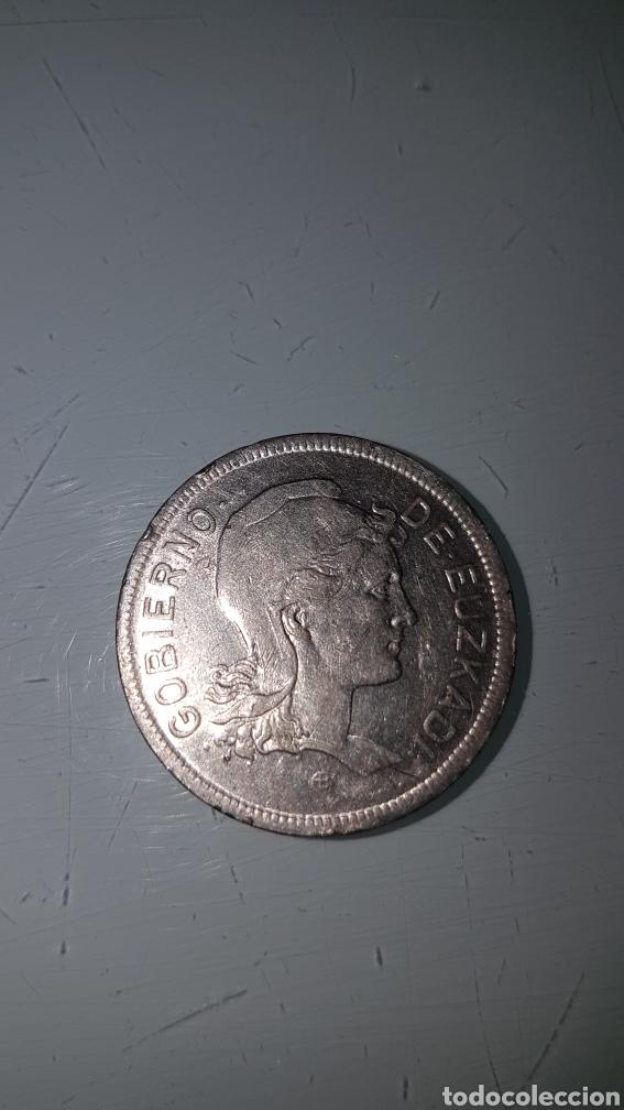 Monedas República: 2 pesetas gobierno de euzkadi 1937 - Foto 2 - 192755992