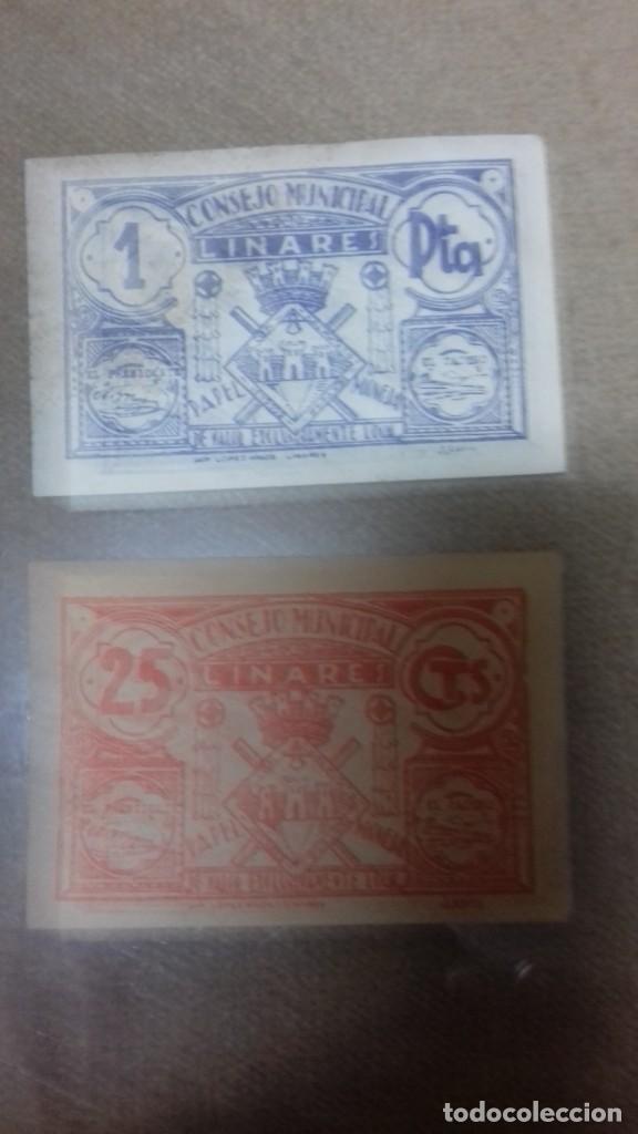 Monedas República: Lote de dos billetes locales de LINARES - Foto 17 - 192835097