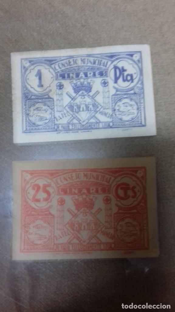 Monedas República: Lote de dos billetes locales de LINARES - Foto 18 - 192835097