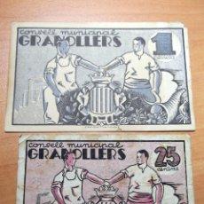 Monedas República: BILLETES CONDELL MUNICIPAL DE GRANOLLERS .JUNY 1037. Lote 192913458
