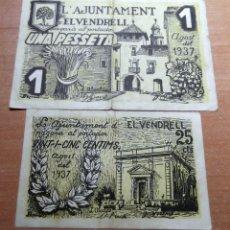 Monedas República: BILLETES L´AJUNTAMENT EL VENDRELL AGOST 1037. Lote 193032180