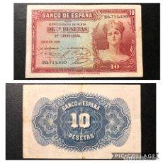 Monedas República: BILLETE 10 PESETAS 1935. MBC. Lote 193340808