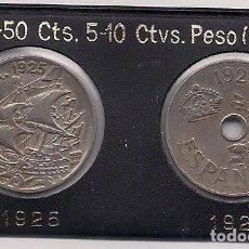 Monete Repubblica: 2 MONEDAS DE 25 CENTIMOS DE LOS AÑOS 1925 Y 1927. Lote 193620395