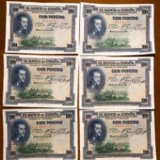 Monedas República: LOTE 8 BILLETES 100 PESETAS 1925. MBC. Lote 193838745