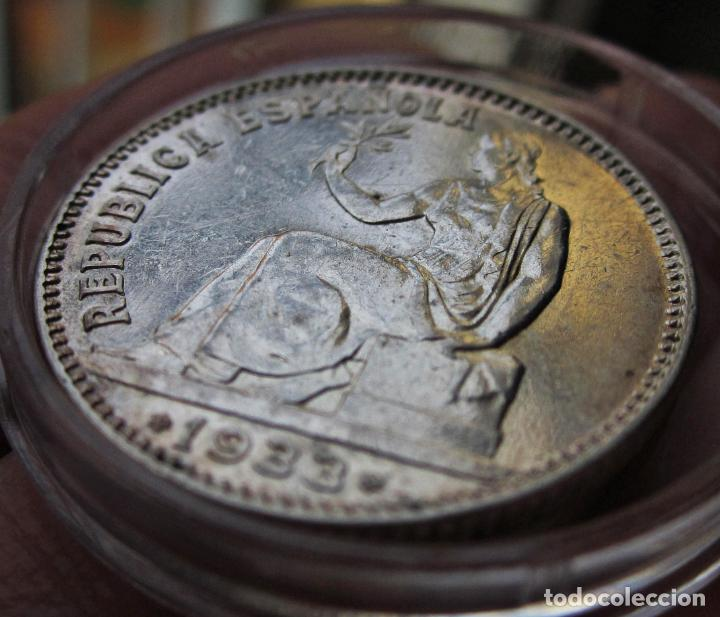 Monedas República: EXCELENTE PESETA 1933 (*3*4). II REPÚBLICA. SC-/SC - Foto 2 - 194539842