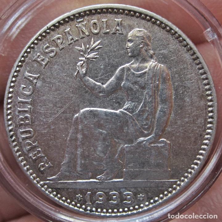 Monedas República: EXCELENTE PESETA 1933 (*3*4). II REPÚBLICA. SC-/SC - Foto 3 - 194539842