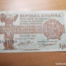 Monedas República: BILLETE REPUBLICA ESPAÑOLA 1937 1 PTS. Lote 194894210
