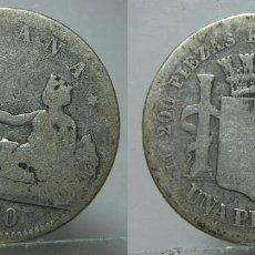 Monete Repubblica: MONEDA DE LA REPUBLICA 1 PESETA 1870 PLATA. Lote 195584823