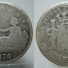 Monete Repubblica: MONEDA DE LA REPUBLICA 1 PESETA 1870 PLATA. Lote 195585010