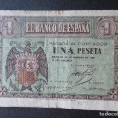 Monedas República: BILLETE 1 PESETA (BURGOS) - BANCO DE ESPAÑA - 1938 - SERIE G. Lote 196576183