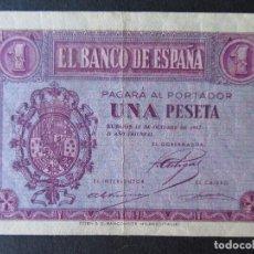 Monedas República: BILLETE 1 PESETA (BURGOS) - BANCO DE ESPAÑA - 1937 - SERIE E. Lote 196576372