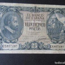 Monedas República: BILLETE 25 PESETAS (MADRID) - BANCO DE ESPAÑA - 1940 - SERIE C. Lote 196577630