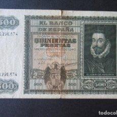 Monedas República: BILLETE 500 PESETAS (MADRID) - BANCO DE ESPAÑA - 1940 - SERIE A. Lote 196579487