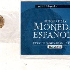 Monedas República: HISTORIA DE LA MONEDA ESPAÑOLA. EL MUNDO. 1 PESETA, II REPUBLICA.. Lote 196591010