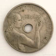 Monedas República: MONEDA 25 CÉNTIMOS REPUBLICA ESPAÑOLA 1934. Lote 196880516