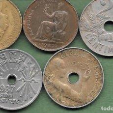 Monedas República: 50 CENTIMOS, 25 CENTIMOS, 1927, 1934, 1937, 50 CENTIMOS 1937, 1 PESETA 1037 ESPAÑA GUERRA CIVIL. Lote 196939871