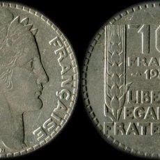Monedas República: FRANCIA MONEDA 10 FRANCOS TURIN AÑO 1933 PLATA 10 GRAMOS KM#878. Lote 211275997