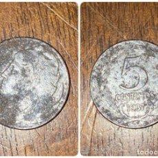 Monedas República: MONEDA. II REPUBLICA. 5 CENTIMOS. CASTELLON. 1937. VER FOTOS. Lote 198685196