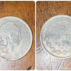 Monedas República: MONEDA. GOBIERNO DE EUZKADI. 2 PESETAS. 1937. VER FOTOS. Lote 198789410