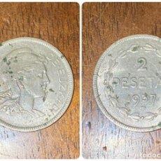 Monedas República: MONEDA. GOBIERNO DE EUZKADI. 2 PESETAS. 1937. VER FOTOS. Lote 198789481