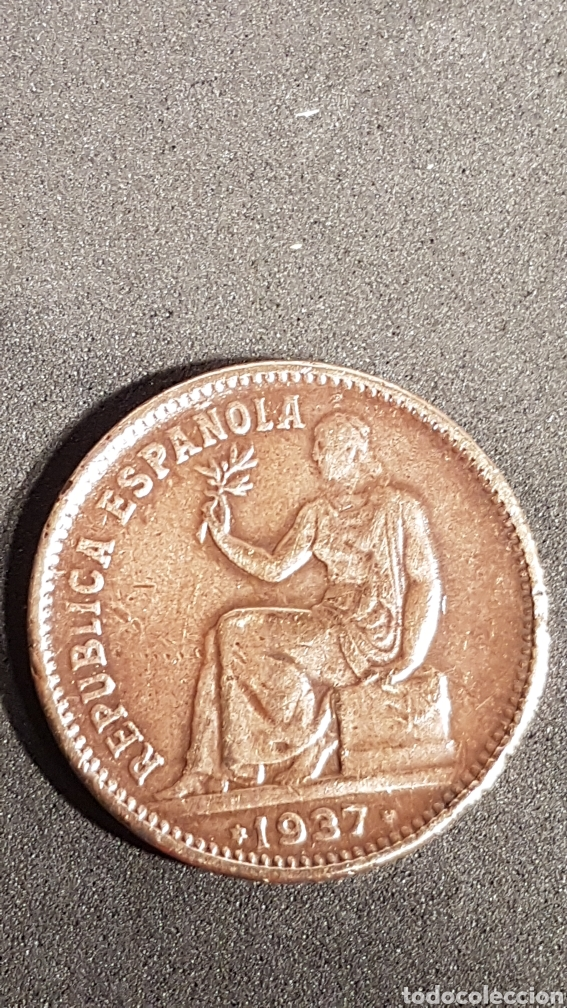 MONEDA DE 50 CÉNTIMOS DE 1937 DE LA II REPÚBLICA ESPAÑOLA. (Numismática - España Modernas y Contemporáneas - República)