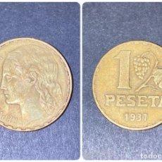 Monedas República: MONEDA. ESPAÑA. 1 PESETA. 1937. VER FOTOS. Lote 198987961