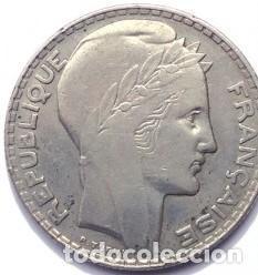 """Monedas República: PLATA PESO 10 GRAMOS FRANCIA AÑO 1933 -MONEDA 10 FRANCOS- *TIPOTURIN* 10 GRAMOS KM#878(3ª REPUBLICA"""" - Foto 2 - 222617483"""