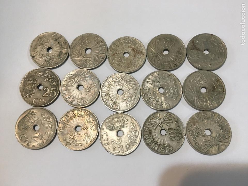 MONEDAS DE 25 CÉNTIMOS, 15 MONEDAS (Numismática - España Modernas y Contemporáneas - República)