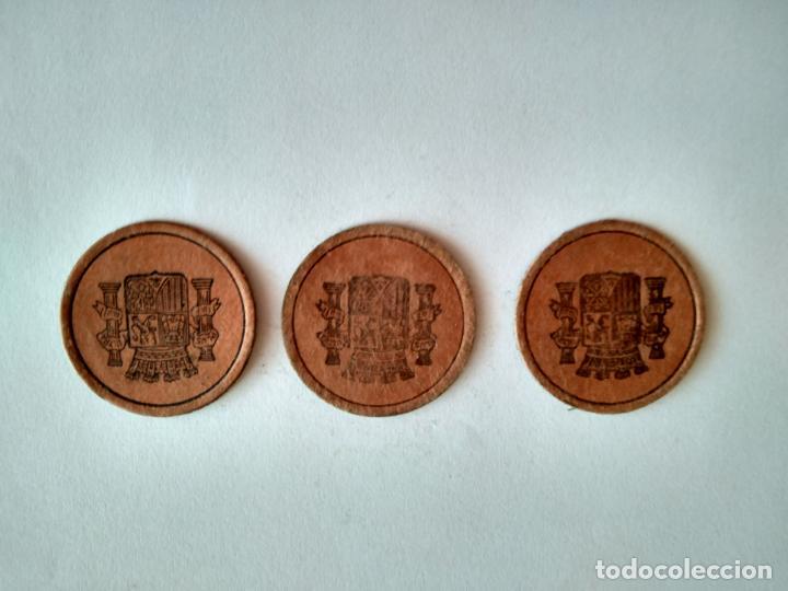 Monedas República: LOTE 3 CARTONES REPÚBLICA ESPAÑOLA GUERRA CIVIL MONEDA NECESIDAD CARTÓN CON SELLO ESPAÑA - Foto 2 - 201998016