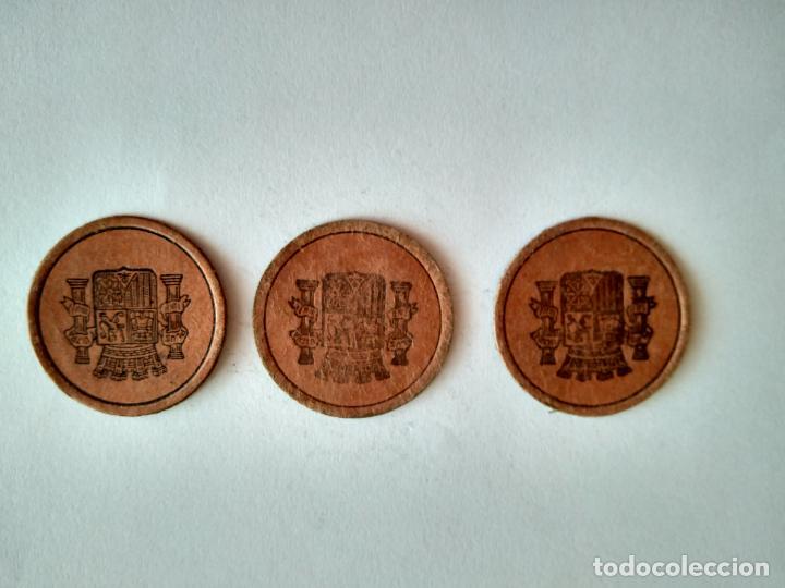 Monedas República: LOTE 3 CARTONES REPÚBLICA ESPAÑOLA GUERRA CIVIL MONEDA NECESIDAD CARTÓN CON SELLO ESPAÑA - Foto 4 - 201998016
