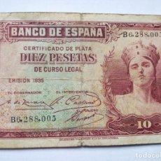 Monedas República: 10 PESETAS ESPAÑA 1935. Lote 202000241