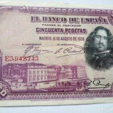Monedas República: 50 PESETAS BANCO ESPAÑA 1928. Lote 202000856