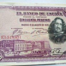 Monedas República: 50 PESETAS BANCO ESPAÑA 1928. Lote 202000973