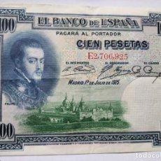 Monedas República: 100 PESETAS BANCO ESPAÑA 1928. Lote 202001115
