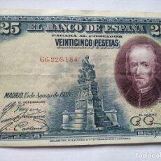 Monedas República: 25 PESETAS BANCO ESPAÑA 1928. Lote 202001572