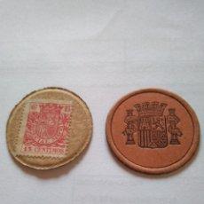 Monedas República: DISCO MONEDA NECESIDAD REPÚBLICA ESPAÑOLA GUERRA CIVIL CARTÓN 15 CÉNTIMOS ESPAÑA. Lote 202082495