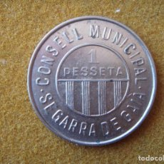 Monedas República: 1 PESSETA (1937) SEGARRA DE GAIÀ, CONSELL MUNICIPAL (STA COLOMA DE QUERALT) - GUERRA CIVIL ESPAÑOLA.. Lote 203362341