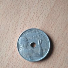 Monedas República: GANGA !! MONEDA 25 CÉNTIMOS REPÚBLICA ESPAÑOLA AÑO 1934 GUERRA CIVIL ESPAÑA. VER FOTOGRAFIAS. Lote 203585725