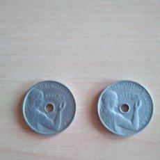 Monedas República: LOTE 2 MONEDAS 25 CÉNTIMOS REPÚBLICA ESPAÑOLA AÑO 1934 GUERRA CIVIL. VER FOTOGRAFIAS. Lote 203780897