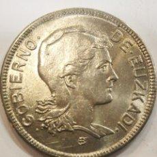 Monedas República: MONEDA 2 PESETAS 1937 GOBIERNO DE EUZKADI EBC. Lote 204607233