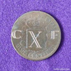Monedas República: MONEDA RESELLADA. RESELLO C.X.F. SOBRE MONEDA DE ALFONSO XII DE 10 CTS. GUERRA CIVIL.. Lote 175281625